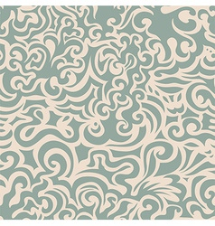 Curly blue seamless pattern vector