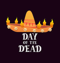 day of the dead mexican holiday festival poster vector image