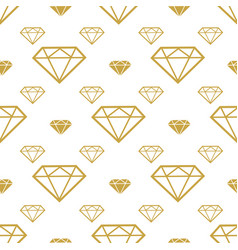 diamonds seamless pattern gold brilliant vector image