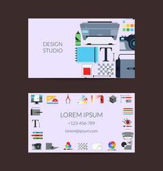 digital art design studio card template vector image