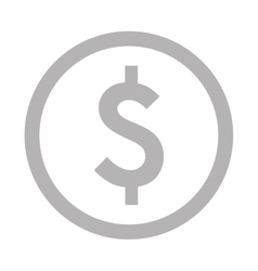 Dollar sign in circle icon vector
