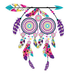 Dream catcher on arrow vector