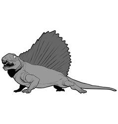 edaphosaurus vector image vector image