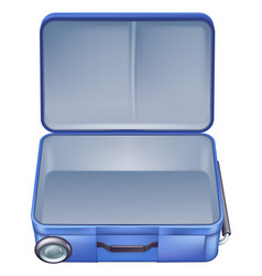 empty suitcase vector image