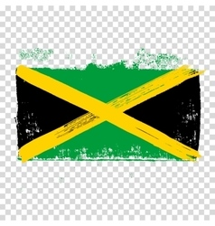 Flag of Jamaica on an empty background vector