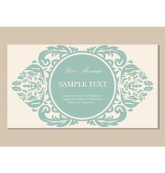 floral card vintage vector image