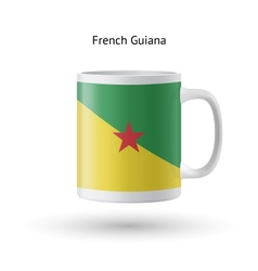 French Guiana flag souvenir mug on white vector