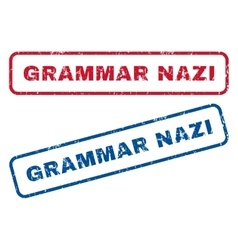 Grammar Nazi Rubber Stamps vector
