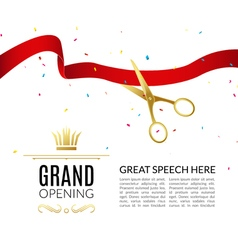 Inauguration invitation vector images 71 grand opening design template with ribbon and vector stopboris Gallery