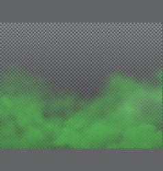 Green bad smell stench and stink smoke vector