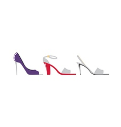 high heels are placed vector image