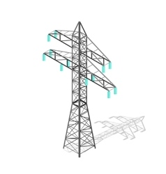 High voltage power pylon transmission tower vector