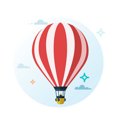hot air balloon flat cartoon design vector image