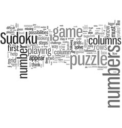 How to play sudoku vector