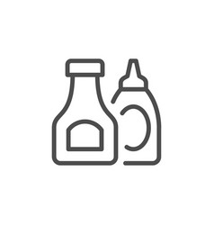 ketchup and sauce line outline icon vector image