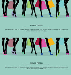 Legs shopping vector