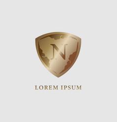 Letter n alphabet logo design template luxury vector