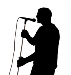 male singer vector image