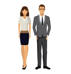 Man and woman business team work support vector