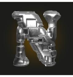 Metal figure n vector