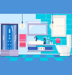modern bathroom interior with furniture basic vector image