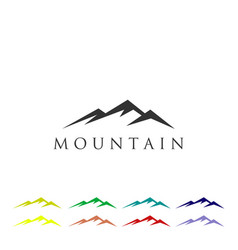 mountain logo icon template vector image