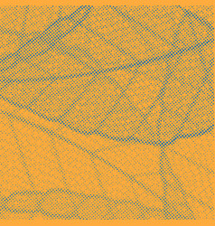 orange background with dotted distressed leaf vector image
