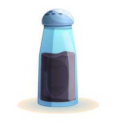 Pepper bottle con cartoon style vector