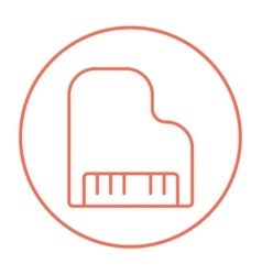 Piano line icon vector image