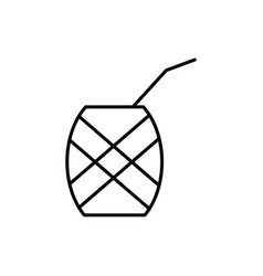 pineapple cocktail icon vector image