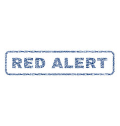 Red alert textile stamp vector