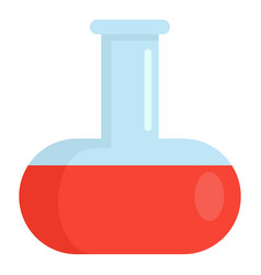 Red liquid flask icon flat style vector