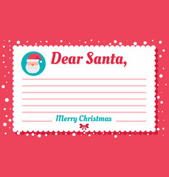 santa letter concept background flat style vector image