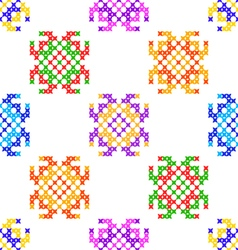 Seamless texture abstract embroidered patterns vector