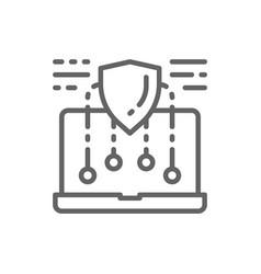Security laptop safe computer web protect vector