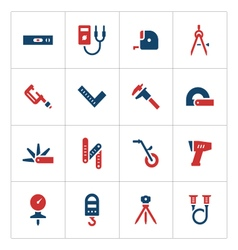 Set color icons of measuring tools vector image