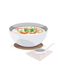 Shrimp porridge vector