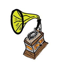 sketch of phonograph vector image