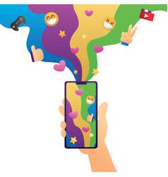 smartphone entertainment vector image