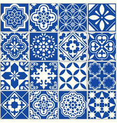Spanish or portuguese tile pattern lisbon vector