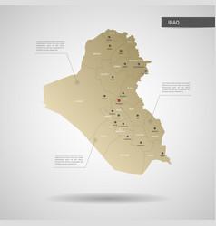 stylized iraq map vector image