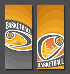 Vertical banners for basketball vector