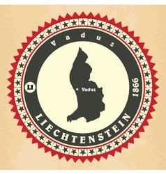 Vintage label-sticker cards liechtenstein vector