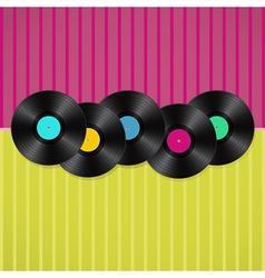 vinyls background vector image vector image