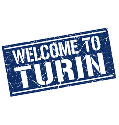 Welcome to turin stamp vector