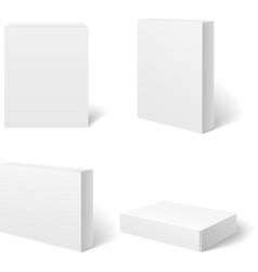 White blank cardboard package box in different vector