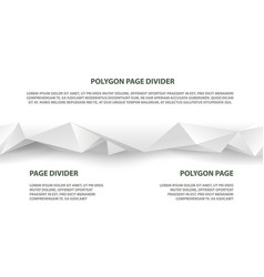 white polygonal seamless divider for website vector image