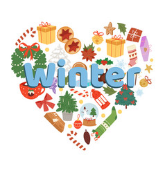 winter and christmas time vector image