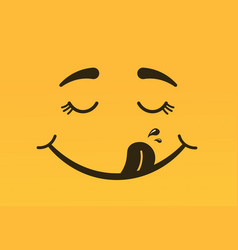yummy smile vector image