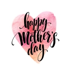 hand drawn Decorative lettering Happy Mothers vector image vector image